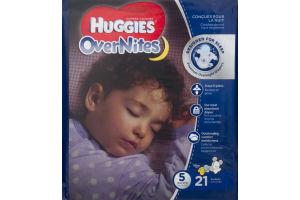 Huggies OverNites Disney Diapers Size 5 - 21 CT