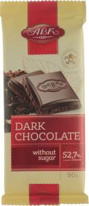 Шоколад 52.7% чорний без цукру АВК м/у 90г