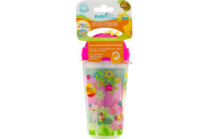 Evenflo Soft Straw Insulated Cup Zoo Friends 6m+