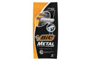 Станок для бритья мужской одноразовый Metal BIC 5шт