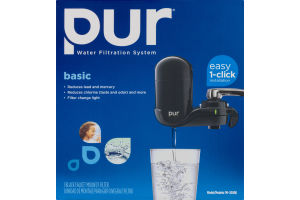 Pur Water Filtration System Basic Black Faucet Mount