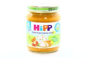 Пюре Hipp Біо-курча в рисово-овочевому кремі 125г