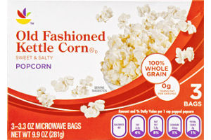 Ahold Old Fashioned Kettle Corn Popcorn - 3 CT