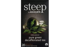 Steep By Bigelow Organic Pure Green Decaffeinated Tea - 20 CT