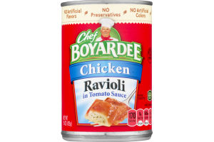 Chef Boyardee Chicken Ravioli in Tomato Sauce