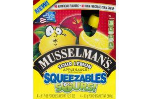 Musselman's Sour Lemon Apple Sauce Squeezables Sours! - 4 CT