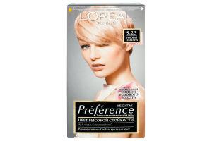Крем-краска для волос №9.23 Розовая платина Preference L'Oreal Paris