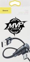 Кабель чорний 1м microUSB 2.0A MVP Elbow Baseus 1шт