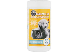 Groom Genie Natural Pet Towelettes All-Purpose - 50 CT