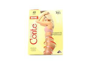 Колготы женские Conte Active 40den 5-XL bronz