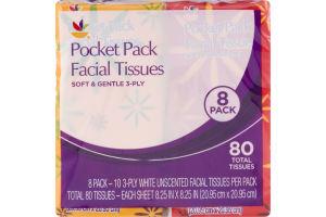 Ahold Pocket Pack Facial Tissues - 8 PK