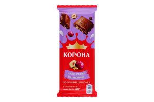 Шоколад молочный Лесные орехи и изюм Корона м/у 85г