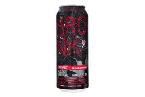 Напій слабоалкогольний 0.5л 8% енергетичний сильногазований Black cherry Bronx з/б