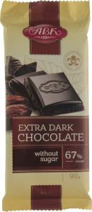 Шоколад Екстрачорний без цукру 67% АВК 90г