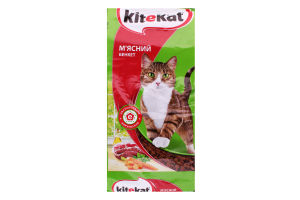 Корм для взрослых кошек Мясной банкет Kitekat м/у 2.4кг