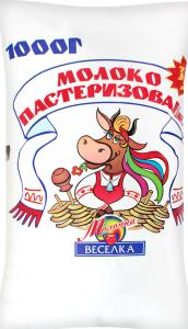 Молоко 3.2% пастеризованое Молочна веселка м/у 1000г