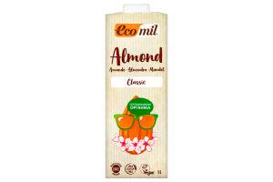 Молоко органічне рослинне з мигдалю класичне Ecomil т/п 1л