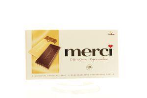 Шоколад Merci кава з вершками 100г х15
