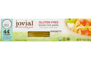 Jovial Gluten Free Brown Rice Pasta Spaghetti
