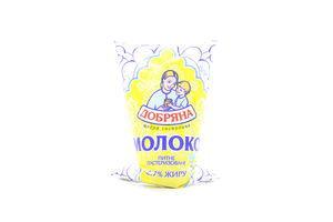 Молоко 2.7% пастеризованное Добряна м/у 900г