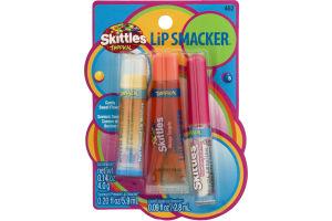 Lip Smacker Skittles Tropical Fruit Flavored Lip Smacker (462) - 3 CT