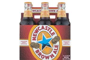 Newcastle Brown Ale Beer Bottles - 6 CT