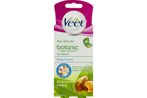 Veet Wax Strip Kit Botanic Inspirations Hair Remover Sensitive Formula