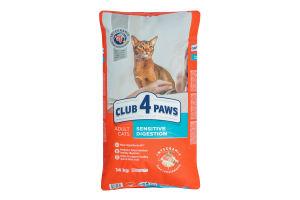 Корм сухой для взрослых котов Premium Sensitive Digestion Club 4 Paws м/у 14кг