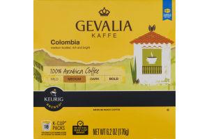 Gevalia Kaffe Colombia 100% Arabica Coffee K-Cup Packs - 18 CT