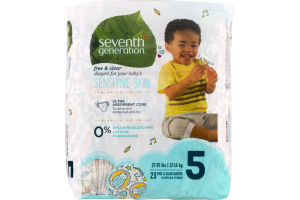 Seventh Generation Free & Clear Diapers Size 5 - 23 CT