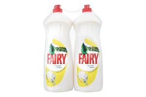 Средство для мытья посуды Сочный лимон Fairy 2x1л
