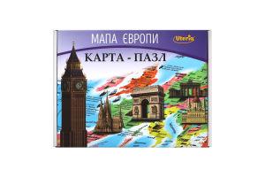 Карта-пазл для детей от 6лет Карта Европы Южпромгруп 1шт