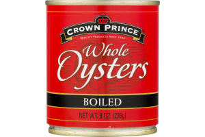Crown Prince Whole Oysters Boiled
