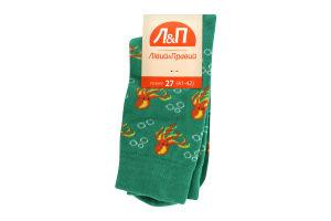Шкарпетки чоловічі Лівий&Правий Море 27 зелений