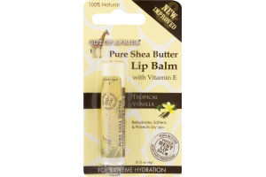 Out Of Africa Pure Shea Butter Lip Balm With Vitamin E Tropical Vanilla