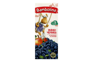 Нектар для дітей від 5міс Яблуко-чорниця Bambolina т/п 0.2л