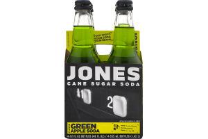 Jones Cane Sugar Soda Green Apple - 4 CT