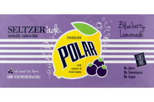 Polar Sparkling Seltzer Blueberry Lemonade - 8 CT