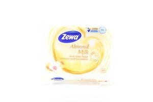 Бумага туалетная влажная Миндальное молочко Zewa 42шт