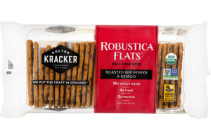 Doctor Kracker Robustica Flats Deli Crackers Roasted Red Pepper & Asiago