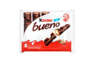 Вафли с молочно-ореховой начинкой Bueno Kinder 129г