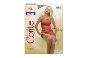 Колготки жіночі Conte elegant Nuance №8С-37СП 40den 4-L natural