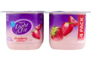 Dannon Light & Fit Nonfat Yogurt Strawberry - 4 CT