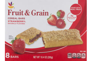 Ahold Fruit & Grain Cereal Bars Strawberry - 8 CT