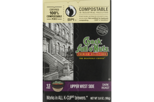 Chock Full O' Nuts Dark Roast K-Cup Pods Upper West Side - 12 CT