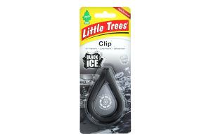 Освіжувач повітря №9748.7 Black Ice Clip Little Trees 1шт