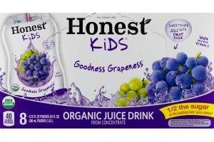 Honest Kids Goodness Grapeness Organic Juice Drink Pouches - 8 CT