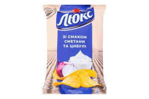 Чипсы картофельные Сметана и лук Люкс м/у 133г