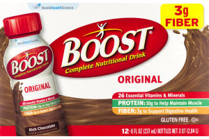 Boost Original Complete Nutritional Drink Rich Chocolate - 12 PK