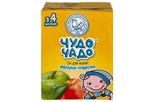 Сок для детей от 3мес Яблоко-персик Чудо-Чадо т/п 0.2л